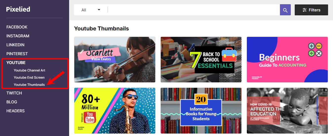 Pixelied-YouTube-Thumbnails